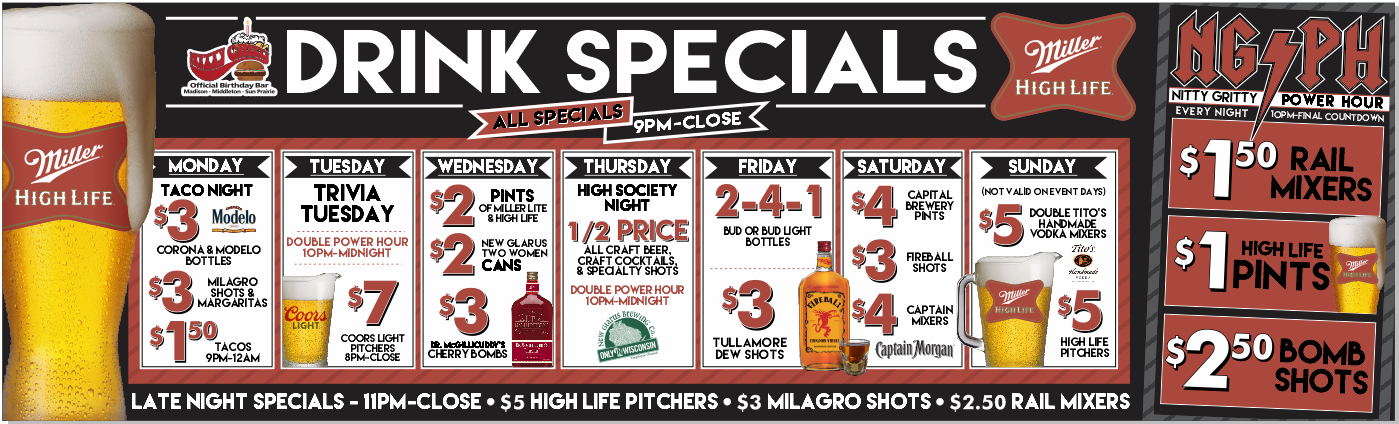 Downtown Drink Specials