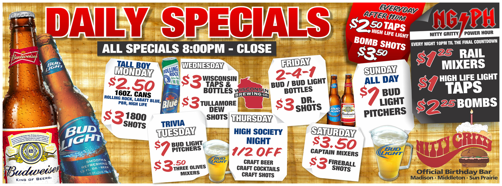 Middleton Drink Specials